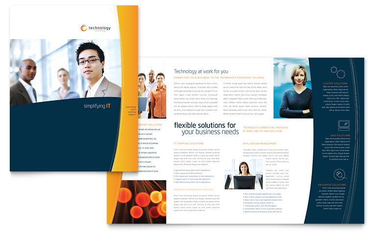 High Quality Bi Fold Brochure Template