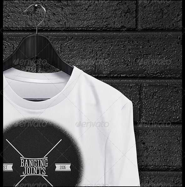 Black-White-T-Shirt-Mockup