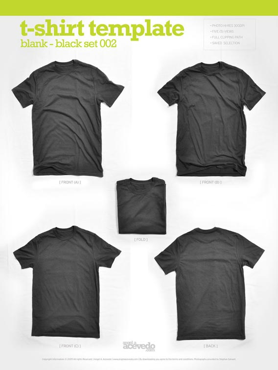 Download free Blank T-Shirt - Black