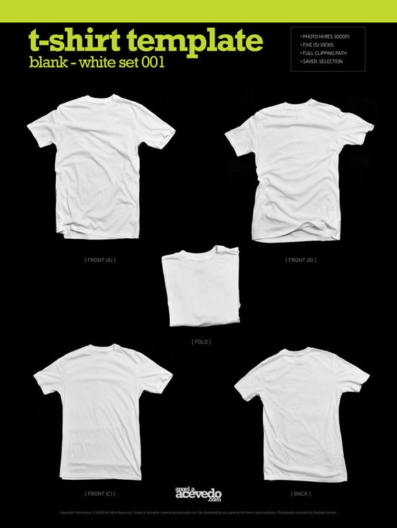 Download Free Blank T-Shirt - White