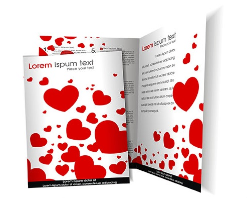 Heart Bi fold Brochure Template