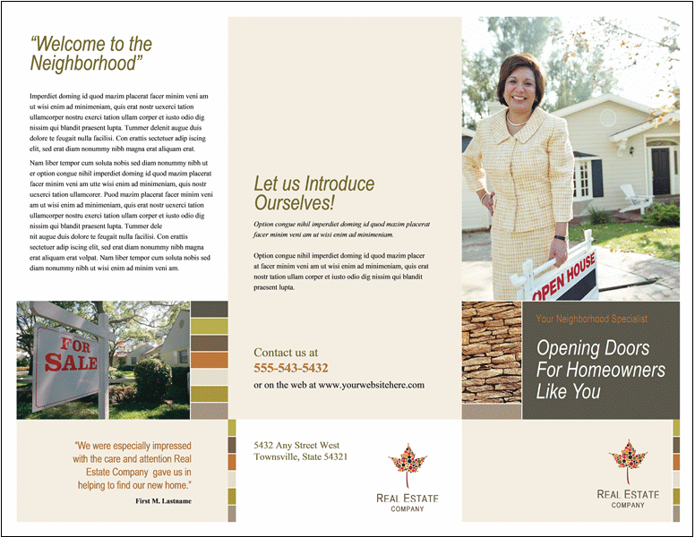 Open House Brochure Template