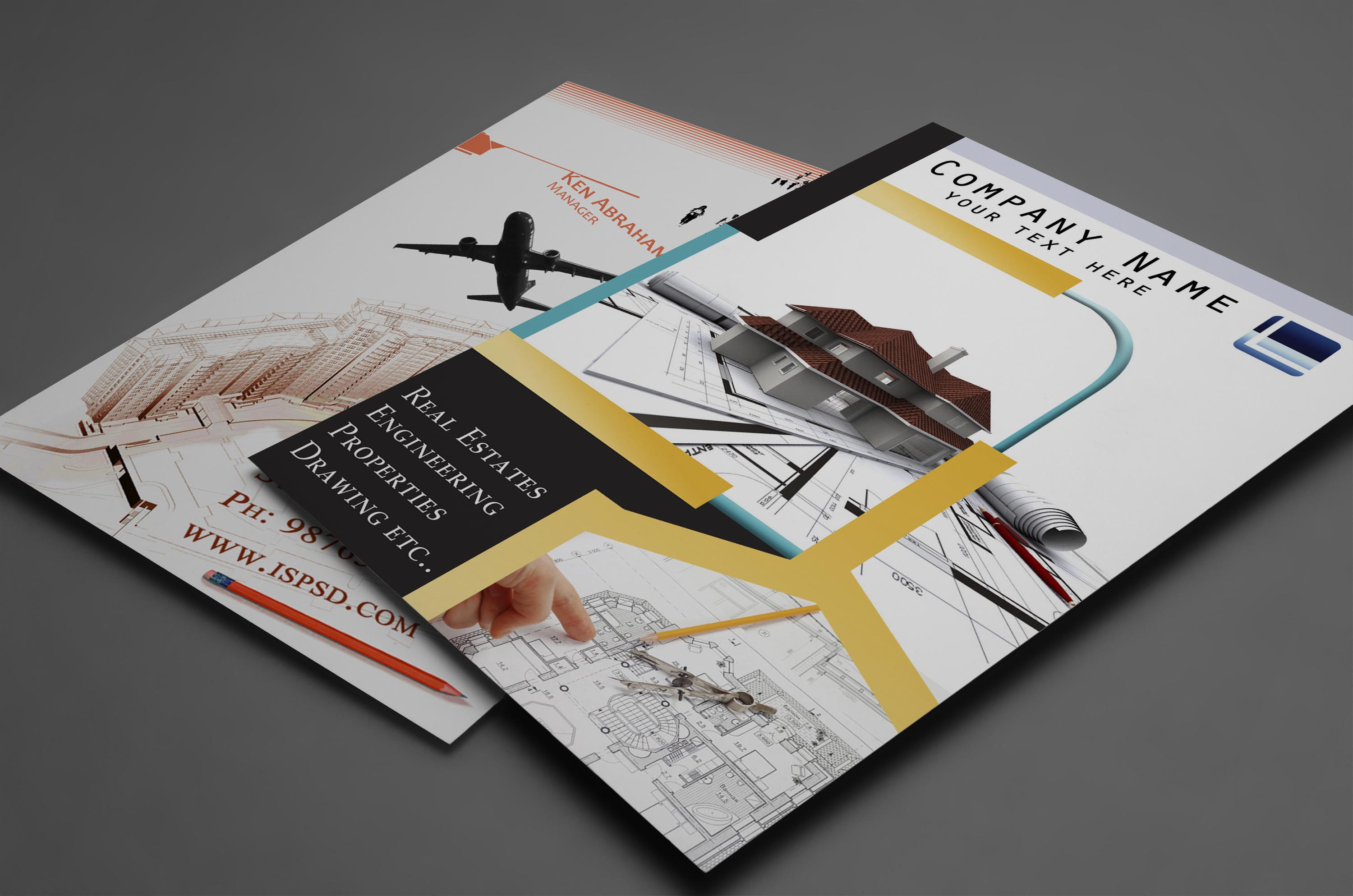 50 useful tri fold brochure templates design blog for Property brochure template