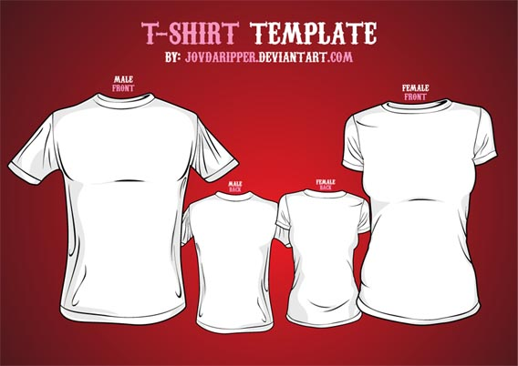 Download Free Vector T-shirt Template