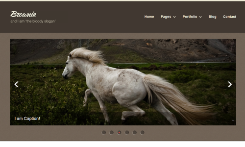 brownieo 20 Free Html Template with Image Slider   Gallery Slider
