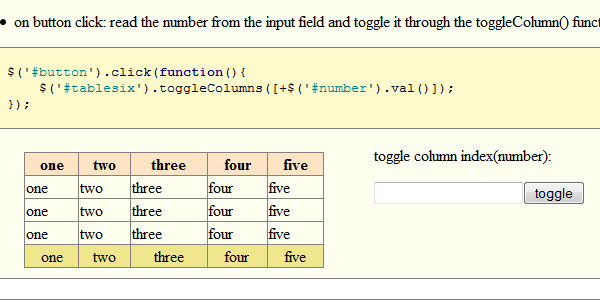 column manager 20 jQuery Table Plugins