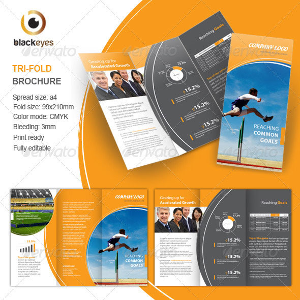 corporate tri fold brochure template - 50 useful tri fold brochure templates design blog