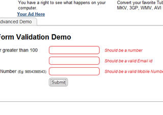 jQuery Live Form Validation