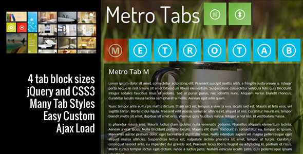 metrotabs with jquery and css3 5 jQuery Metro UI Plugins
