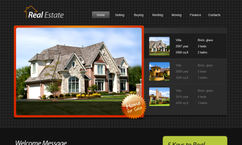 realestatehtml 20 Free Html Template with Image Slider   Gallery Slider