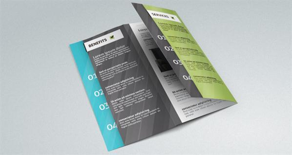 Tri Fold Corporate Brochure Mockup PSD