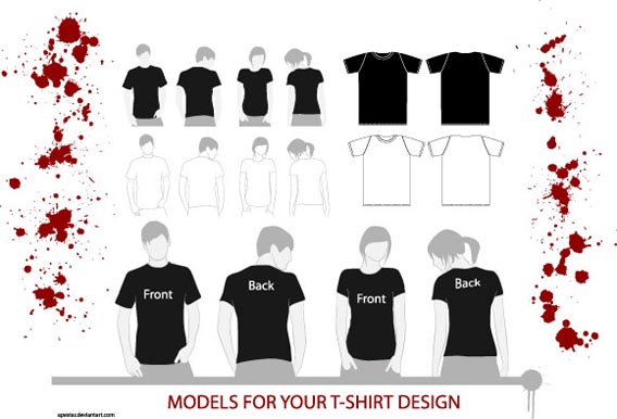 Download Free T-Shirt Models