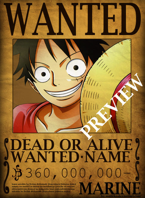 one_piece_wanted_poster_psd_by_mazeko-d5dwhgd