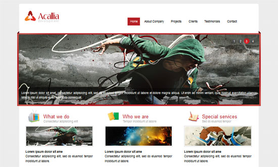 Acallian HTML5 and CSS3 Templates Free 30+ Free HTML5 and CSS3 Templates