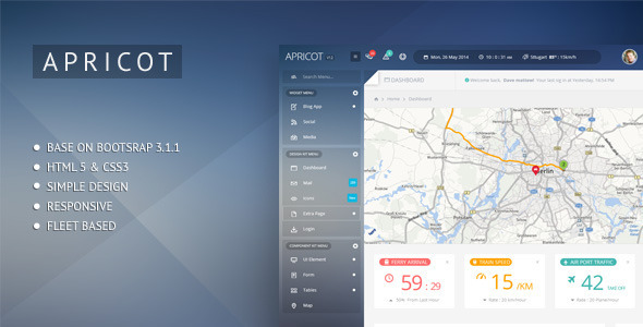 Apricot Navigation Admin Dashboard Template