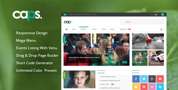 Caps Responsive News Magazine WordPress Theme