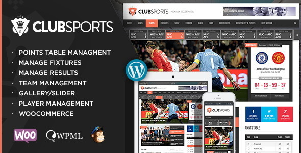 Club Sports Events and Sports News Theme