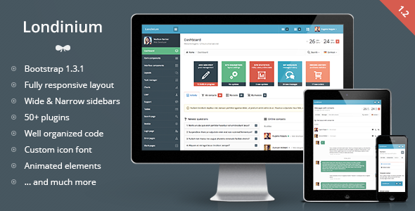 Londinium responsive bootstrap 3 admin template