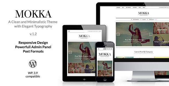 Mokka Minimal Elegant WordPress Blog