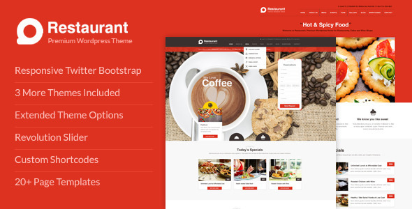 Restaurant Responsive WordPress