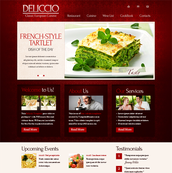 Restaurant 30+ Free HTML5 and CSS3 Templates