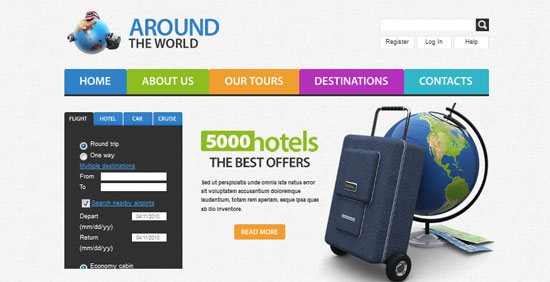 Travel Website Template 30+ Free HTML5 and CSS3 Templates