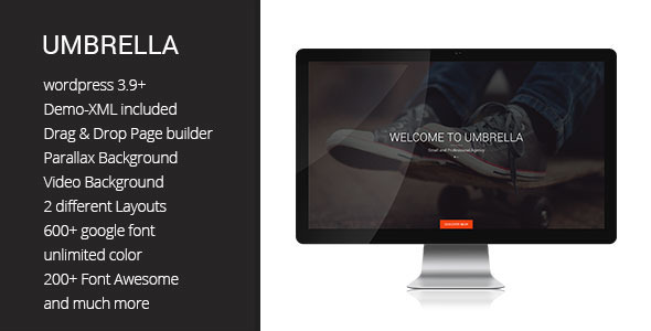 Umbrella One Page WP theme