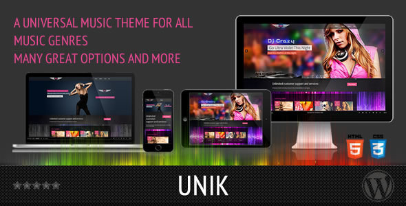Universal Music Responsive WordPress Theme