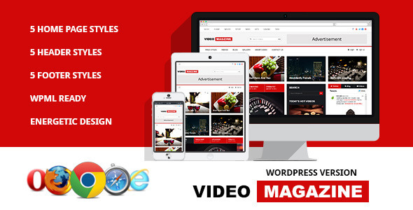 Video Magazine WordPress Magazine Theme