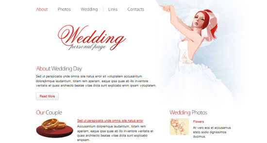 Wedding Website Template 30+ Free HTML5 and CSS3 Templates