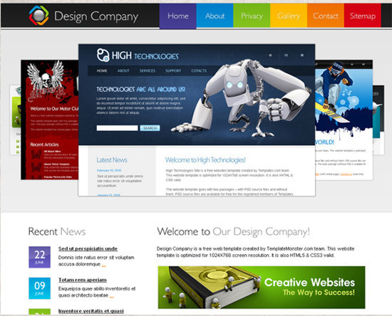 beautifulhtml4 30+ Free HTML5 and CSS3 Templates