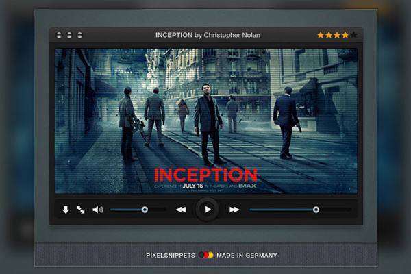freebie psd download video player media