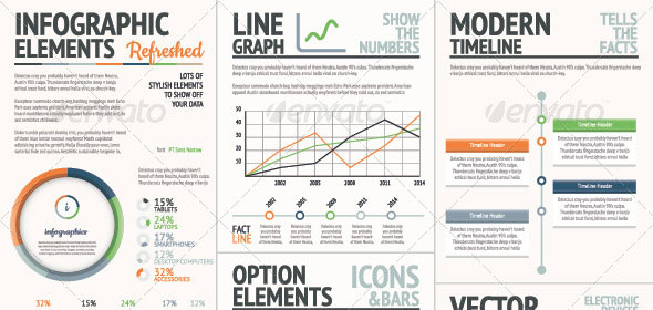 Fresh-Orange-and-Green-Vector-Infographic-Elements