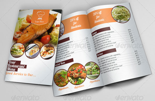 Restaurant Menu Indesign Brochure Template