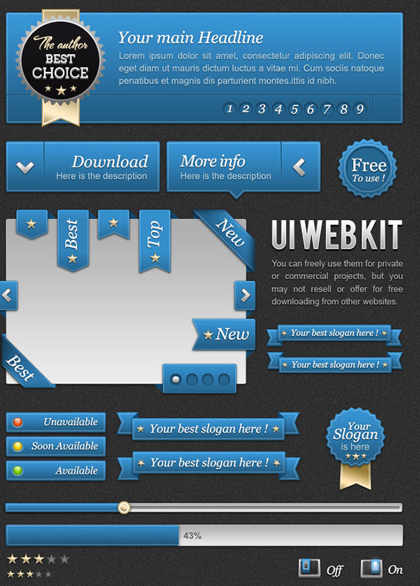 FREEBIES-UI-Blue-web-kit-by-oblik50