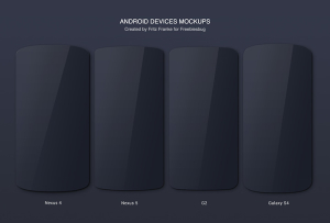 Android Devices Mockups Nexus LG Galaxy