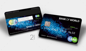 Bank CardCredit Card CashCard Mock-Up