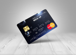 Credit : Bank Card Mock-Up
