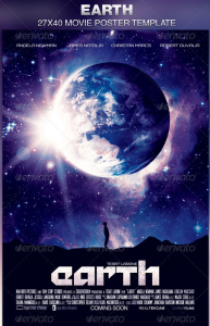 Earth  Movie Poster Template-Image-Preview