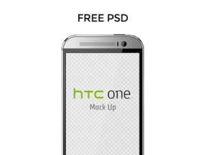 Free HTC ONE M8 Mock Up