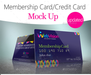 Membership Card:Credit Card Mock Up