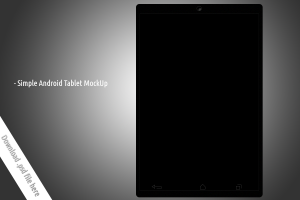 Simple Android Tablet Mockup