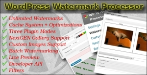 Wordpress Watermark Processor