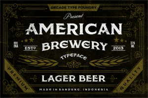 american brewery typeface