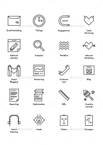 40 Inbound Marketing Icons