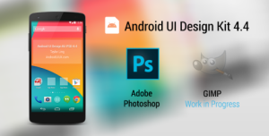 ANDROID UI DESIGN KIT FOR PHOTOSHOP