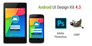 ANDROID UI DESIGN KIT FOR PHOTOSHOP AND GIMP 4.3 [FREE DOWNLOAD]