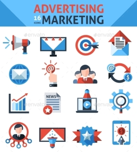 Advertising Marketing Icons