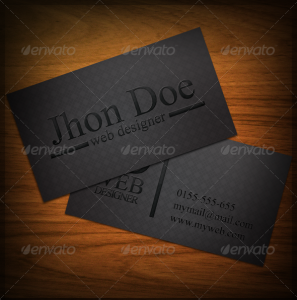 Black Business Card 3