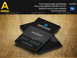 Black Business Card AN0406